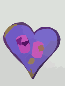 Purple Abstract Heart Clipart png free, Purple Abstract Heart transparent png
