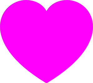 Solid Pink Heart Clipart png free, Solid Pink Heart transparent png