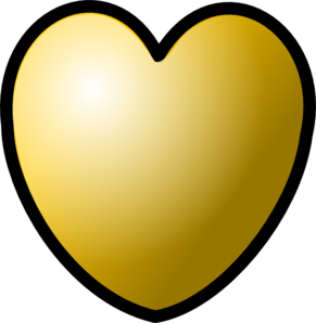 Heart Of Gold Clipart png free, Heart Of Gold transparent png