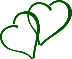 Green Double Hearts Clipart png free, Green Double Hearts transparent png