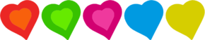 Colourful Hearts Clipart png free, Colourful Hearts transparent png