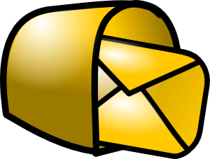Gold Theme Mailbox Mail Clipart png free, Gold Theme Mailbox Mail transparent png