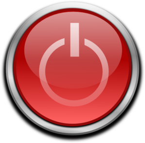 Red Power Button Clipart png free, Red Power Button transparent png