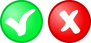 Red Green Ok Not Ok Icons Clipart png free, Red Green Ok Not Ok Icons transparent png