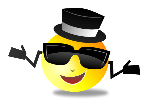 Cool Dapper Shruggy Smiley Clipart png free, Cool Dapper Shruggy Smiley transparent png