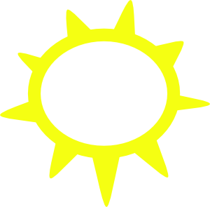 Sunny Weather Symbols Clipart png free, Sunny Weather Symbols transparent png