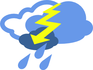 Severe Thunder Storms Weather Symbol Clipart png free, Severe Thunder Storms Weather Symbol transparent png