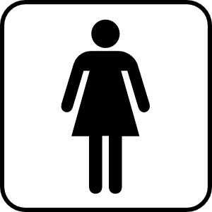 Ladies Room Clipart png free, Ladies Room transparent png