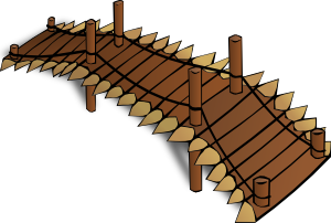 Wooden Bridge Clipart png free, Wooden Bridge transparent png