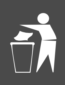Trash Bin Sign Clipart png free, Trash Bin Sign transparent png