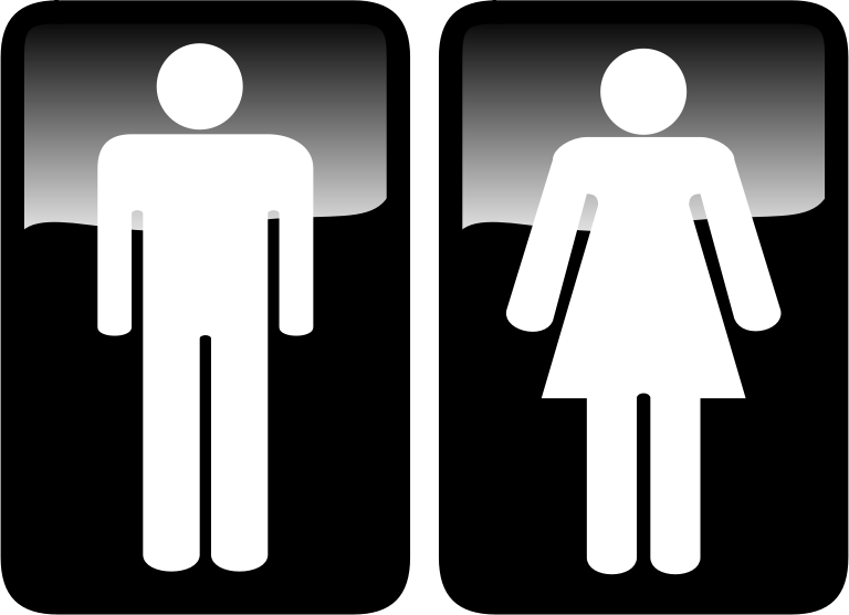 Toilet Signs Clipart png free, Toilet Signs transparent png