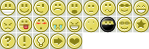 Smiley Icons Collection Clipart png free, Smiley Icons Collection transparent png