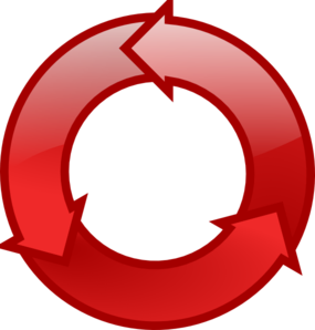 Red Cycle Icon Clipart png free, Red Cycle Icon transparent png