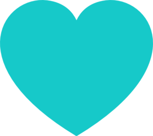 Teal Heart Clipart png free, Teal Heart transparent png