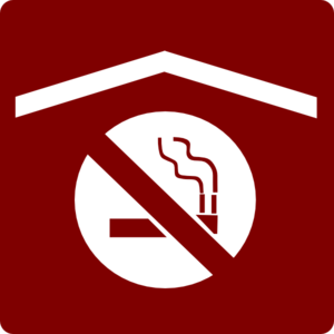 Hotel Icon No Smoking In Rooms Clip Art - Red/White Clipart png free, Hotel Icon No Smoking In Rooms Clip Art - Red/White transparent png
