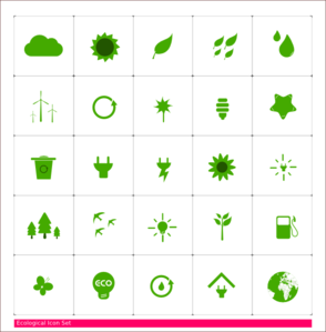 Ecology Icon Set Clipart png free, Ecology Icon Set transparent png