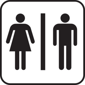 Large Man Woman Bathroom Sign Clipart png free, Large Man Woman Bathroom Sign transparent png