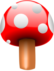 Red Mushroom With White Dots Clipart png free, Red Mushroom With White Dots transparent png