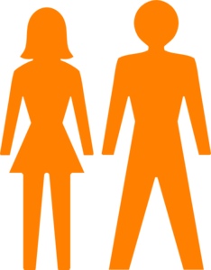 Man And Woman (Heterosexual) Icon (Alternate) Clipart png free, Man And Woman (Heterosexual) Icon (Alternate) transparent png