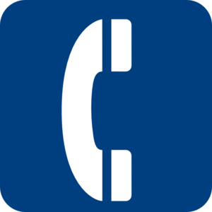 Blue Phone Symbol Clipart png free, Blue Phone Symbol transparent png