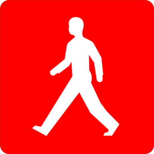 Red Pedestrian Walk Symbol Clipart png free, Red Pedestrian Walk Symbol transparent png