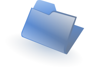 Blue Closed Folder Clipart png free, Blue Closed Folder transparent png