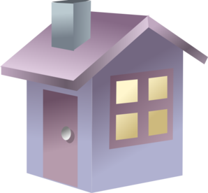 Blue 3D House Clipart png free, Blue 3D House transparent png