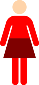 Women Toilet Symbol Red Clipart png free, Women Toilet Symbol Red transparent png