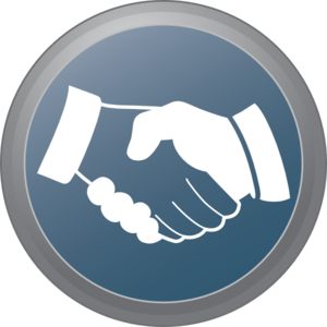 Hand Shake Button Clipart png free, Hand Shake Button transparent png