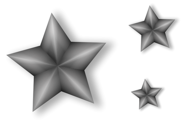 3 Metal Stars With Transparency Clipart png free, 3 Metal Stars With Transparency transparent png
