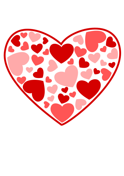 Heart Of Hearts Clipart png free, Heart Of Hearts transparent png