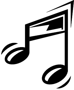 Funny Music Note Clipart png free, Funny Music Note transparent png