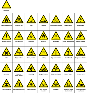 Sign Hazard Warning Clipart png free, Sign Hazard Warning transparent png