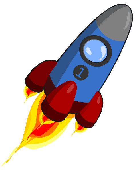Rocket Blue And Red Clipart png free, Rocket Blue And Red transparent png