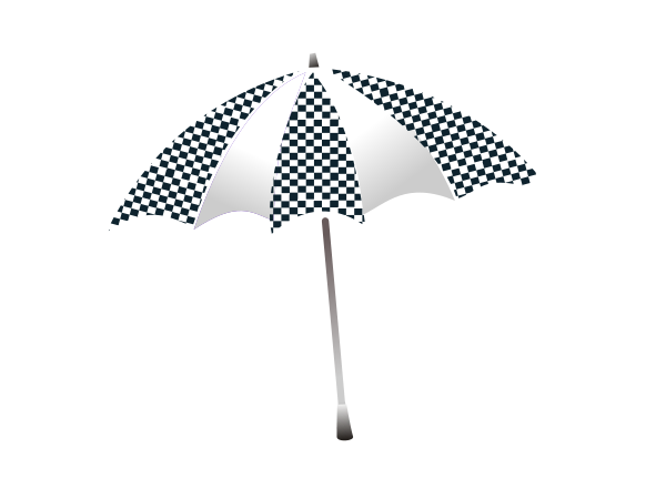 Chequered Umbrella Clipart png free, Chequered Umbrella transparent png