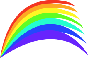Rainbow Clipart png free, Rainbow transparent png