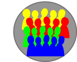 Smaller Crowd 3Color Clipart png free, Smaller Crowd 3Color transparent png