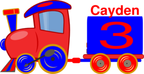 Loco Train Cayden Clipart png free, Loco Train Cayden transparent png