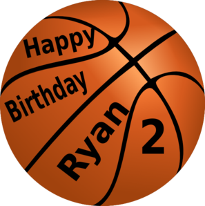 Happy Birthday Basketball Clipart png free, Happy Birthday Basketball transparent png