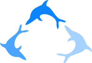 Blue Dolphin Logo Clipart png free, Blue Dolphin Logo transparent png