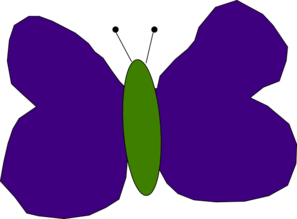 Purple And Green Butterfly Clipart png free, Purple And Green Butterfly transparent png