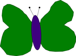 Green And Purple Butterfly Clipart png free, Green And Purple Butterfly transparent png
