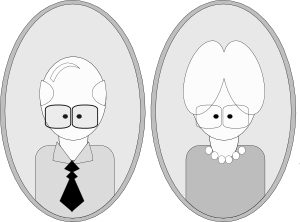 Grandpa And Grandma Clipart png free, Grandpa And Grandma transparent png