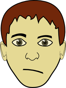 Brown Hair Boy Face Clipart png free, Brown Hair Boy Face transparent png