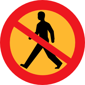No Entry Sign With A Man Clipart png free, No Entry Sign With A Man transparent png