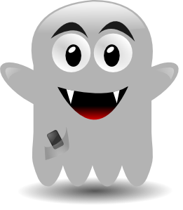 Ghost With A Cellephone Clipart png free, Ghost With A Cellephone transparent png