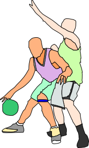 Basket Ball Players Clipart png free, Basket Ball Players transparent png