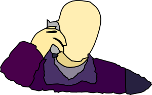Man Answering The Phone Clipart png free, Man Answering The Phone transparent png