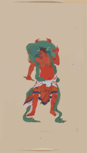 Mythological Buddhist Or Hindu Figure, Full-Length, Standing, Facing Front, With Long Green Sash And Flaming Green Halo Behind His Head Clipart png free, Mythological Buddhist Or Hindu Figure, Full-Length, Standing, Facing Front, With Long Green Sash And Flaming Green Halo Behind His Head transparent png