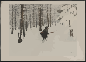 [A Man Walking In The Snow]  / Engelhart, 1904. Clipart png free, [A Man Walking In The Snow]  / Engelhart, 1904. transparent png